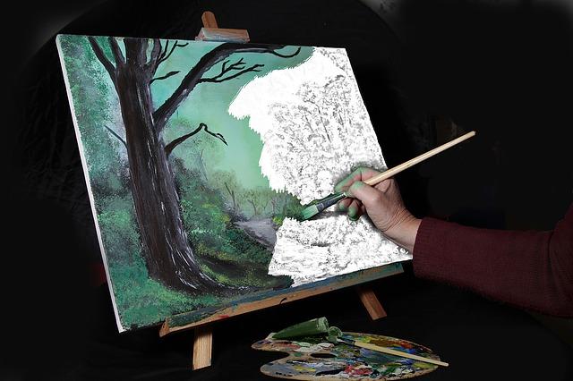 malba umělce