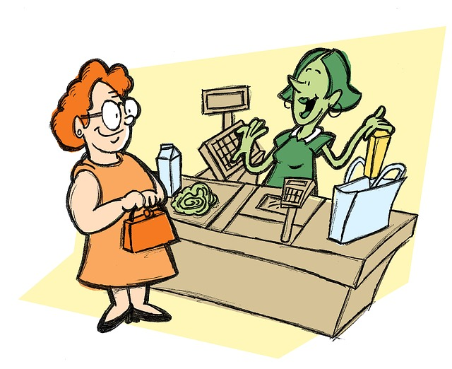paní u pokladny