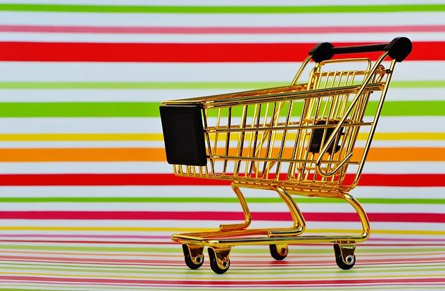 prázdný nákupní košík