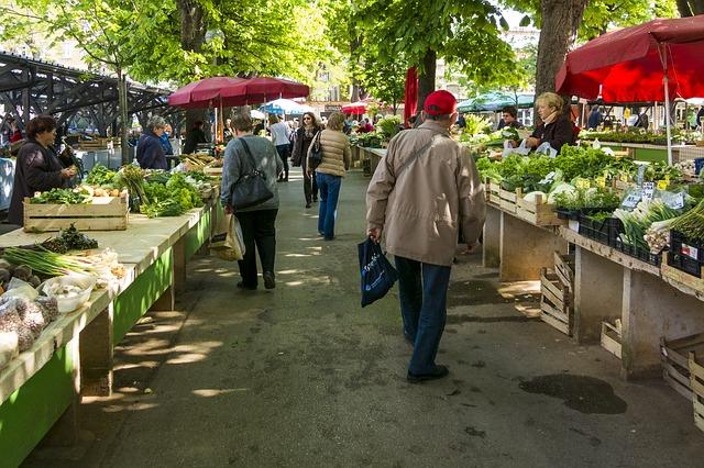 trh se zeleninou