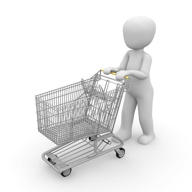 panáček a nákupní košík