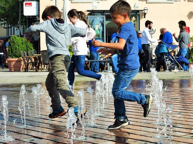 vodní fontánky