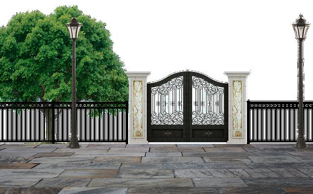 kovová brána